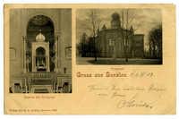 Gruss aus Bunzlau. Synagoge. Inneres der Synagoge.