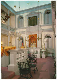 Interior of Touro Synagogue - 1763
