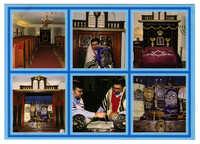 Interiör av Synagogan Jeschurun, Nybrogatan 12, Stockholm (f.d. Synagogan på Heinrich-Barth-Strasse, Hamburg) / Interior of Synagogue Jeschurun, Stockholm, Sweden (formerly Heinrich-Barth-Strasse, Hamburg)
