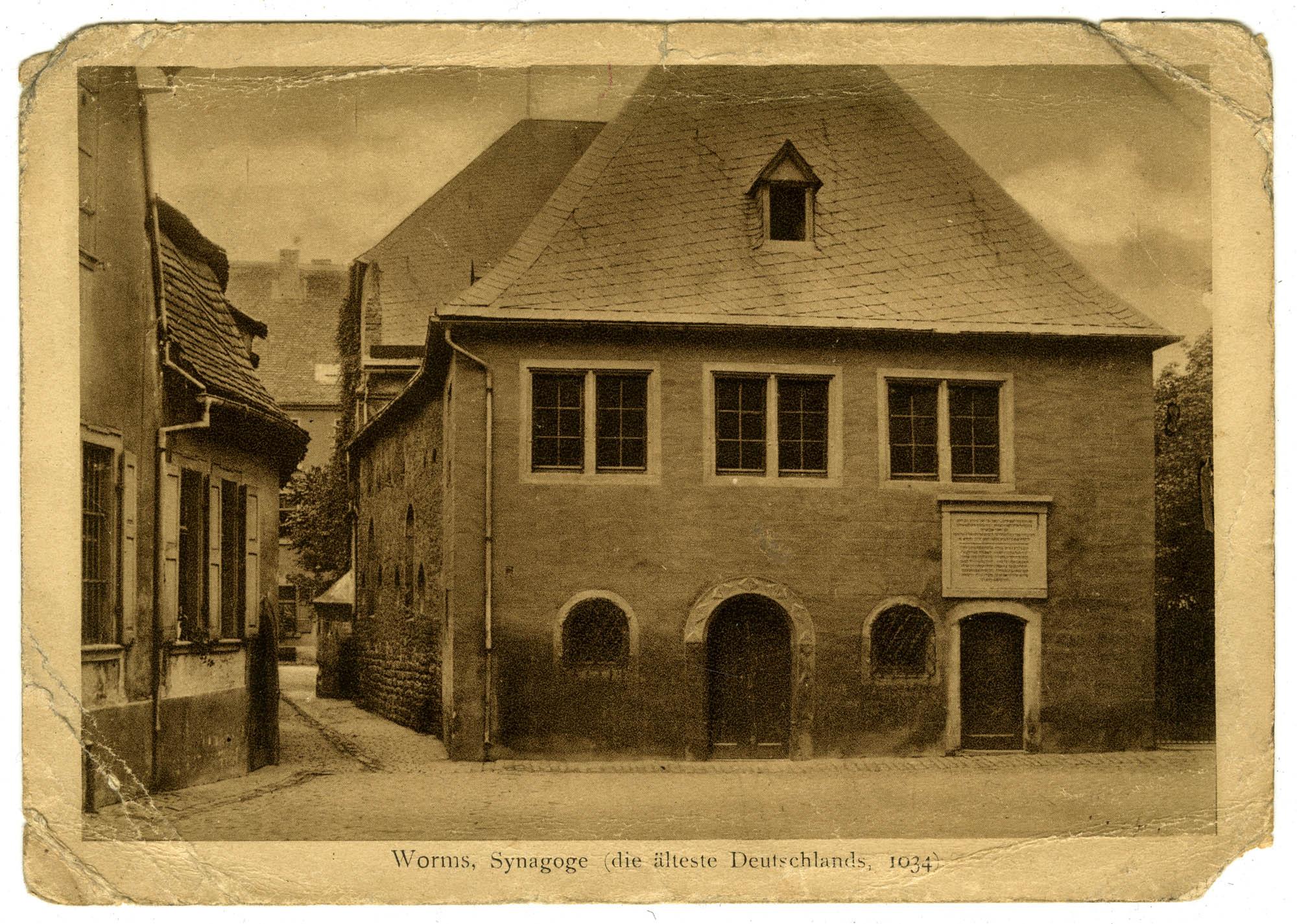 Worms, Synagoge (die älteste Deutschlands, 1034)