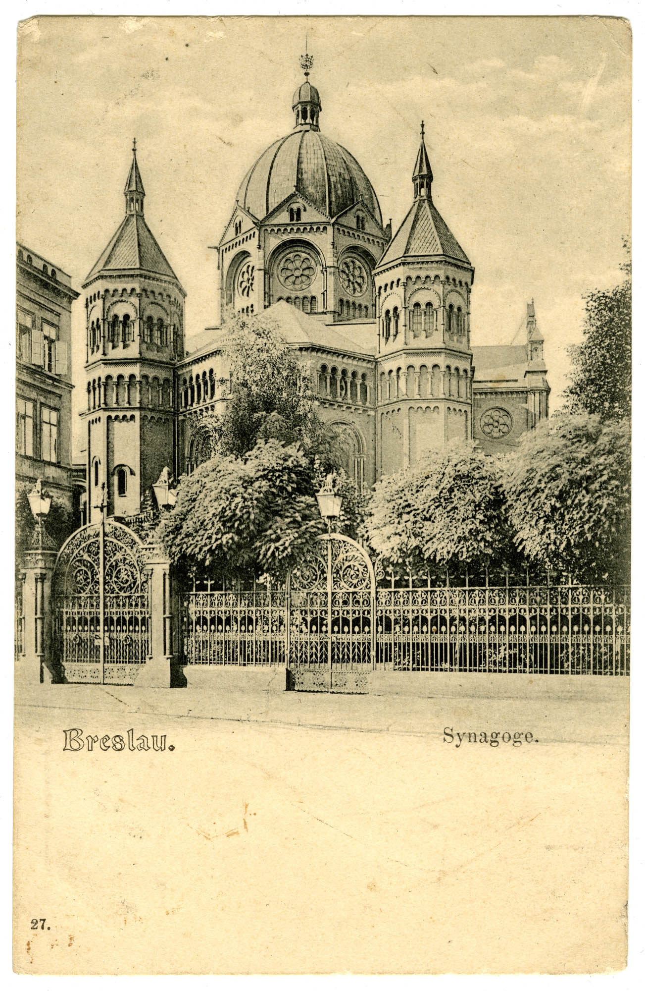 Breslau. Synagoge.