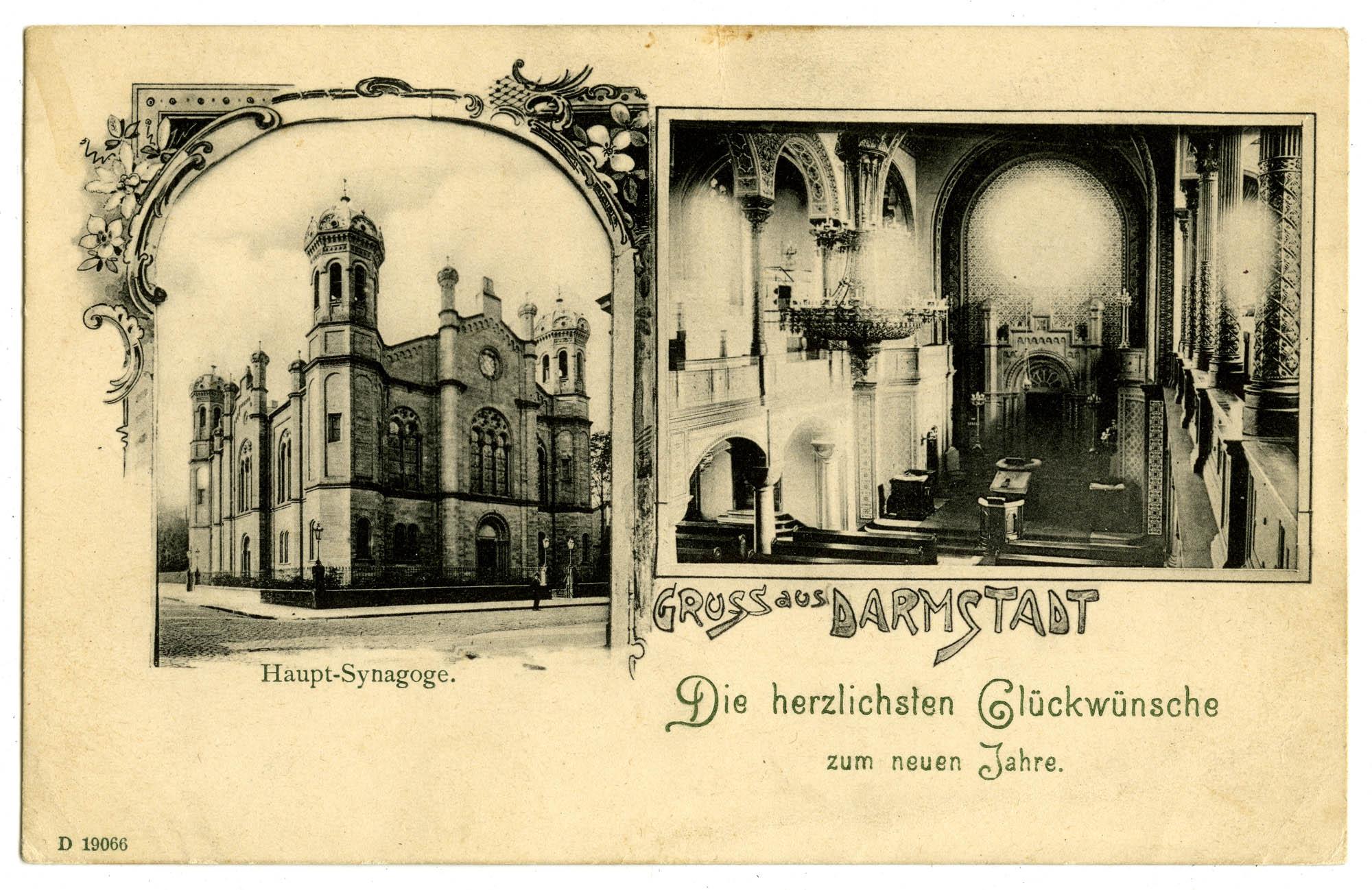 Gruss aus Darmstadt. Haupt-Synagoge.