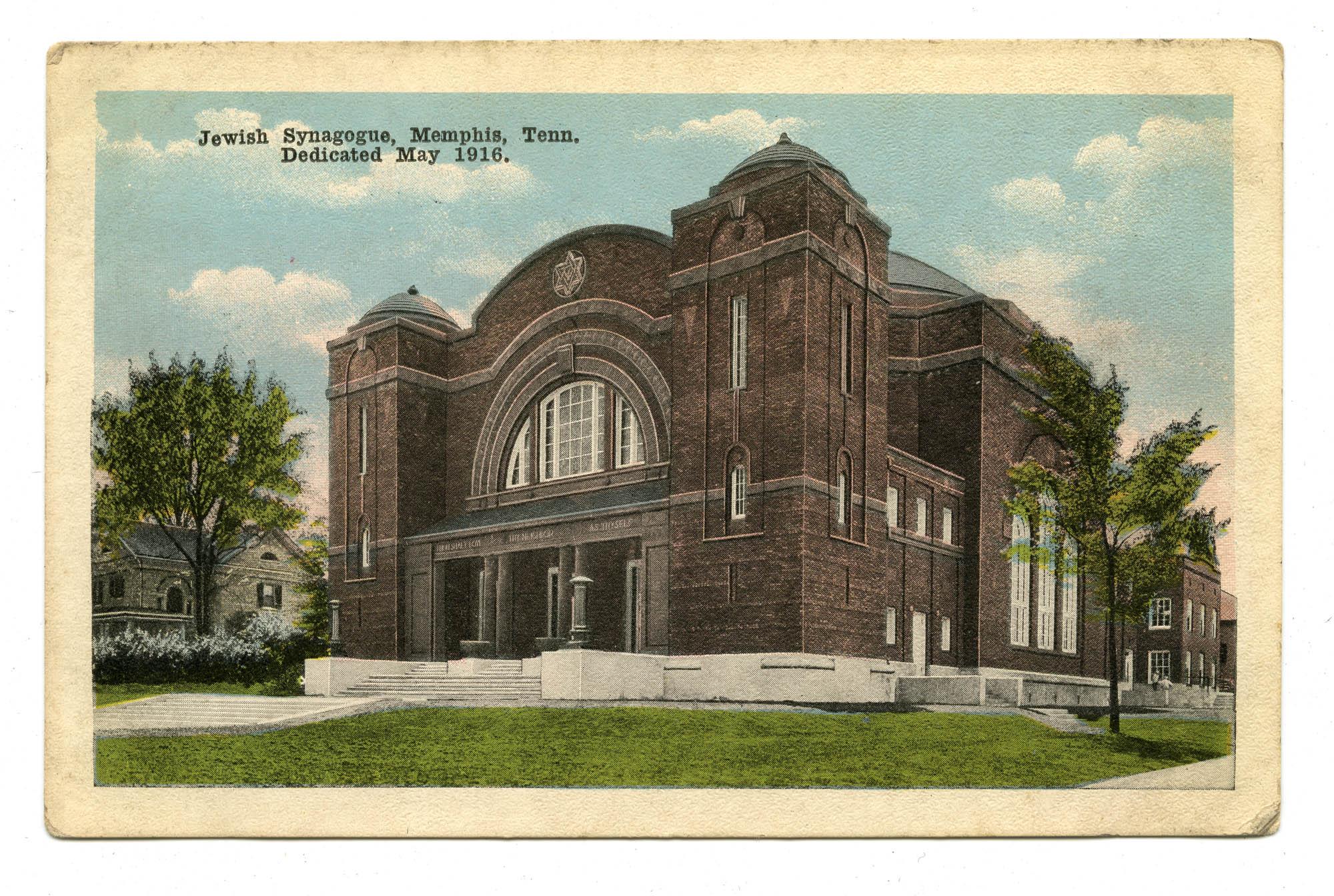 Jewish Synagogue, Memphis, Tenn. Dedicated May 1916.