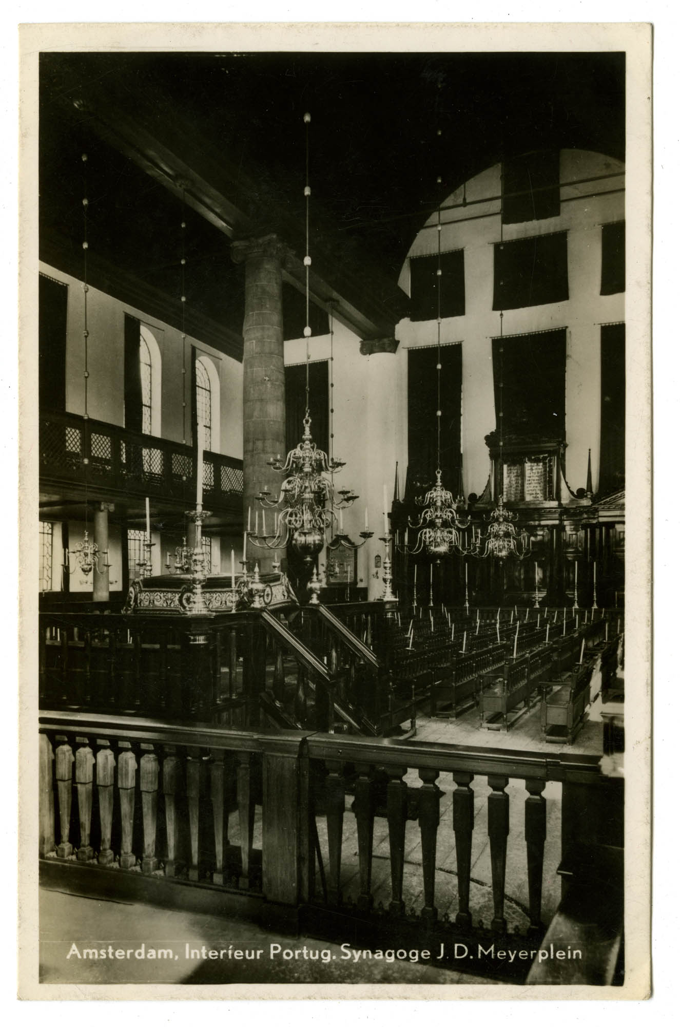 Amsterdam, Interieur Portug. Synagoge, J.D. Meyerplein