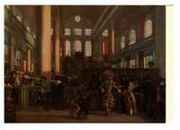 Emanuel De Witte - Interior of the Portuguese Synagogue in Amsterdam / עמנואל דה-ויטה - פנים בית הכנסת הפורטוגזי באמסטרדם