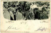 Praha. Starý hřbitov židovský. / Prag. Der alte Judenfriedhof.