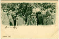 Gruss aus Prag! Der alte Judenfriedhof.
