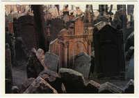 Praha. Starý židovský hřbitov, založen v 1. pol. 15. stol.