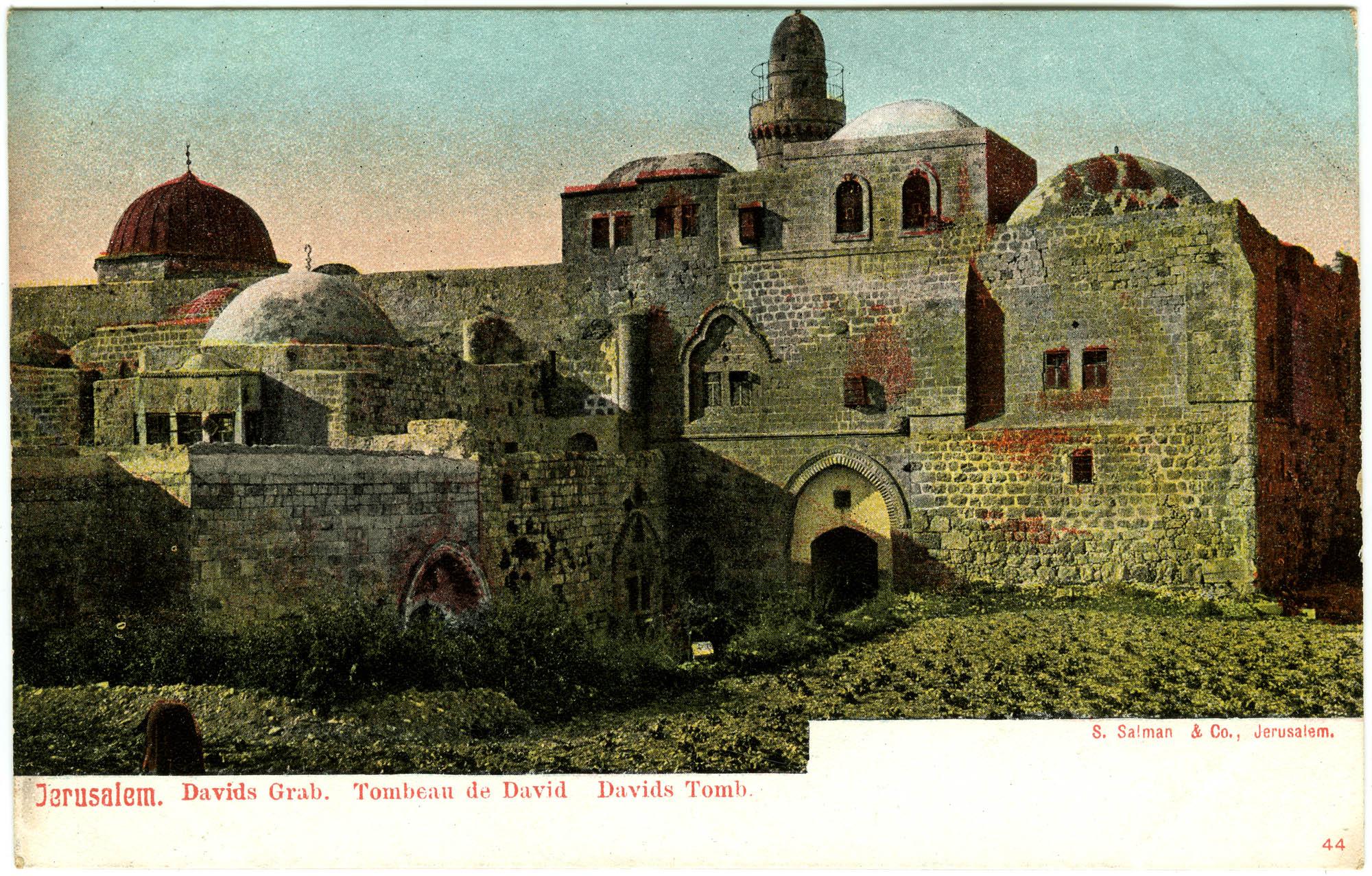 Jerusalem. Davids Grab. / Tombeau de David. / David's Tomb.