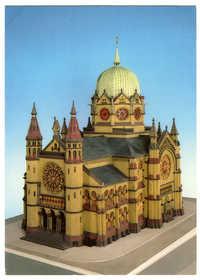 Synagoge. Erbaut 1864/70 von Edwin Oppler an der Bergstr. in der Calenberger Neustadt, zerstört in der Reichskristallnacht am 9./10. Nov. 1938.