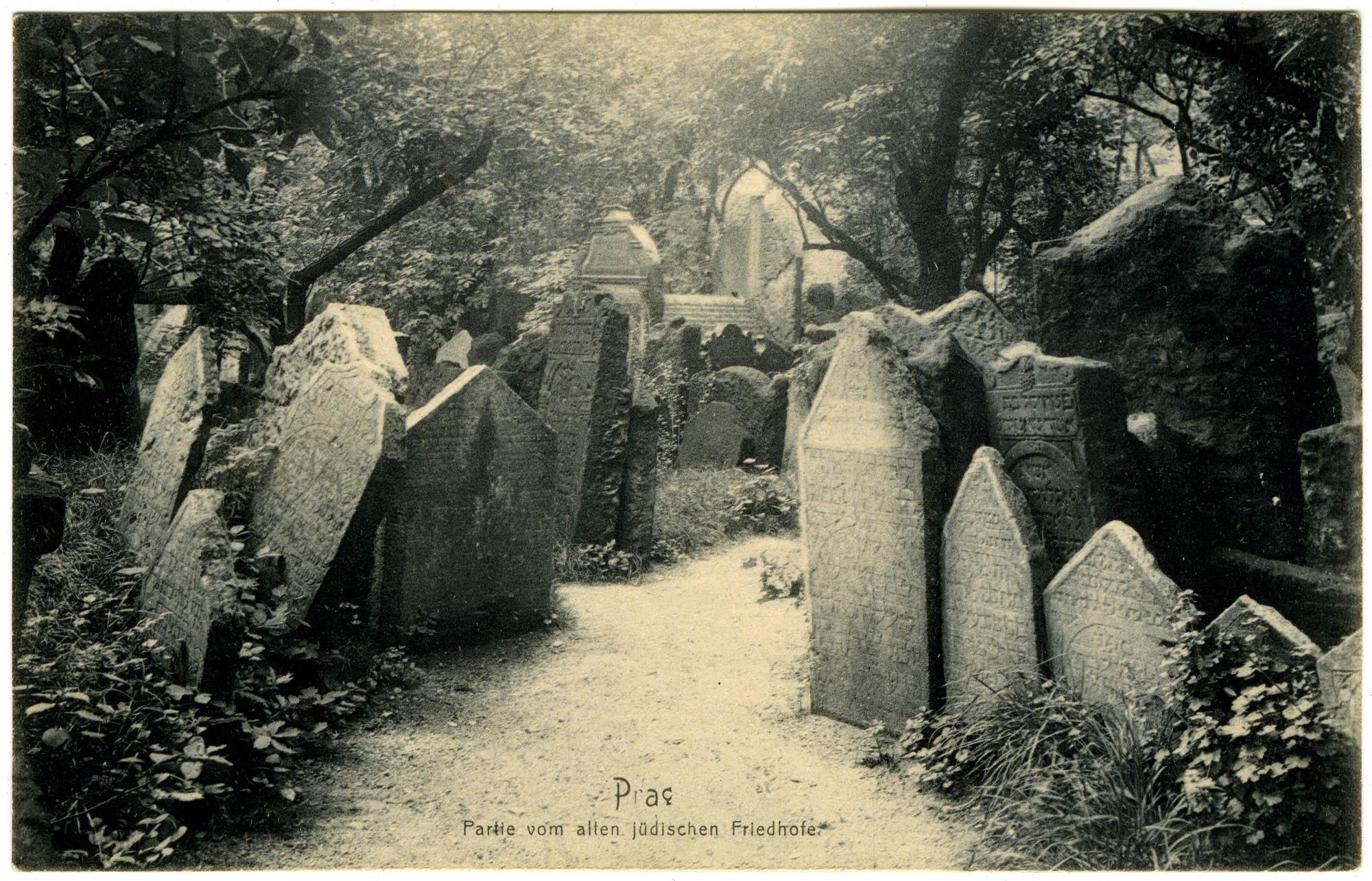 Prag, Partie vom alten jüdischen Friedhofe
