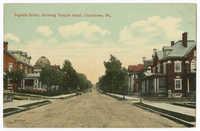 Fayette Street, showing Temple Israel, Uniontown, Pa.
