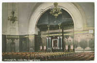 Pittsburgh, Pa., Interior View, Jewish Synagog