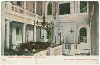 Interior Touro Synagogue. Newport, R.I.