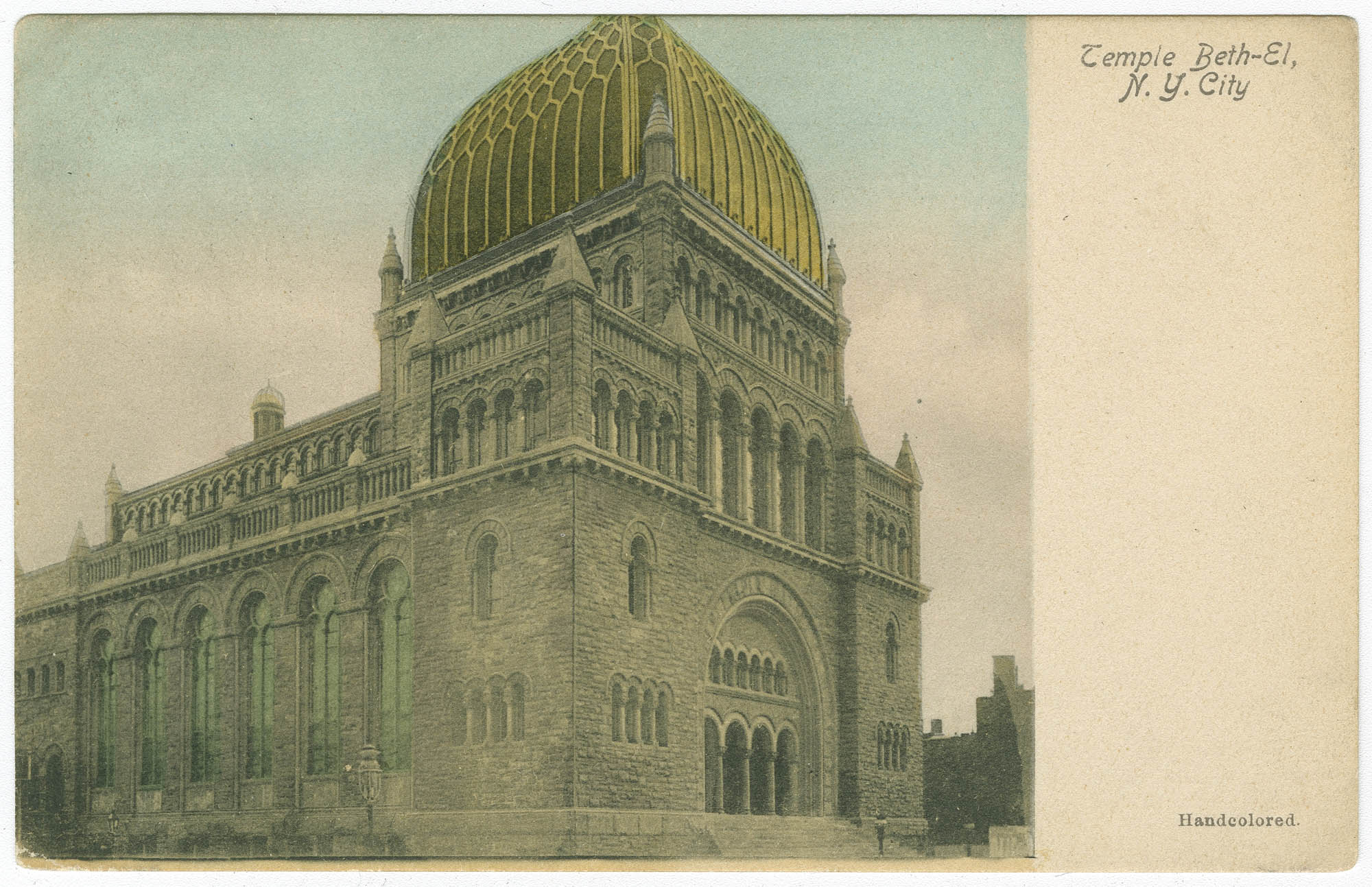 Temple Beth-El, N.Y. City