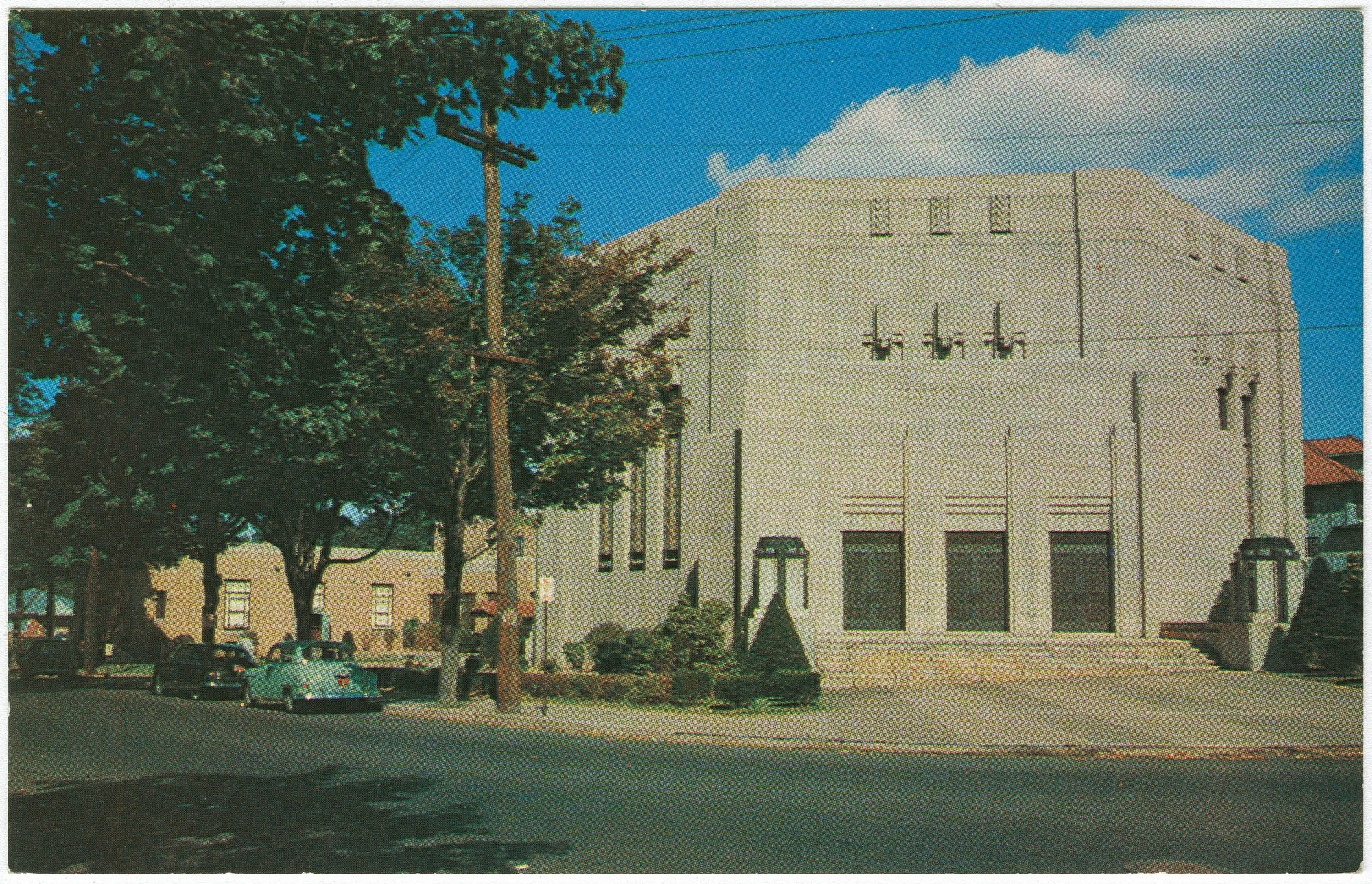 View of Temple Emanuel, located at Broadway and East 33rd Street, Paterson, N.J.