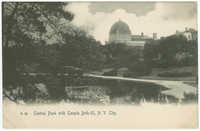 Central Park with Temple Beth-El, N.Y. City