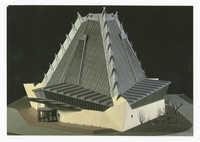 Beth Sholom Synagogue, Elkins Park, Pennsylvania, U.S.A. 1954. Model.