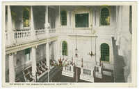 Interior of the Jewish synagogue. Newport, R.I.