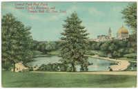 Central Park Boat Pond, Senator Clark's Residence, and Temple Beth El, New York
