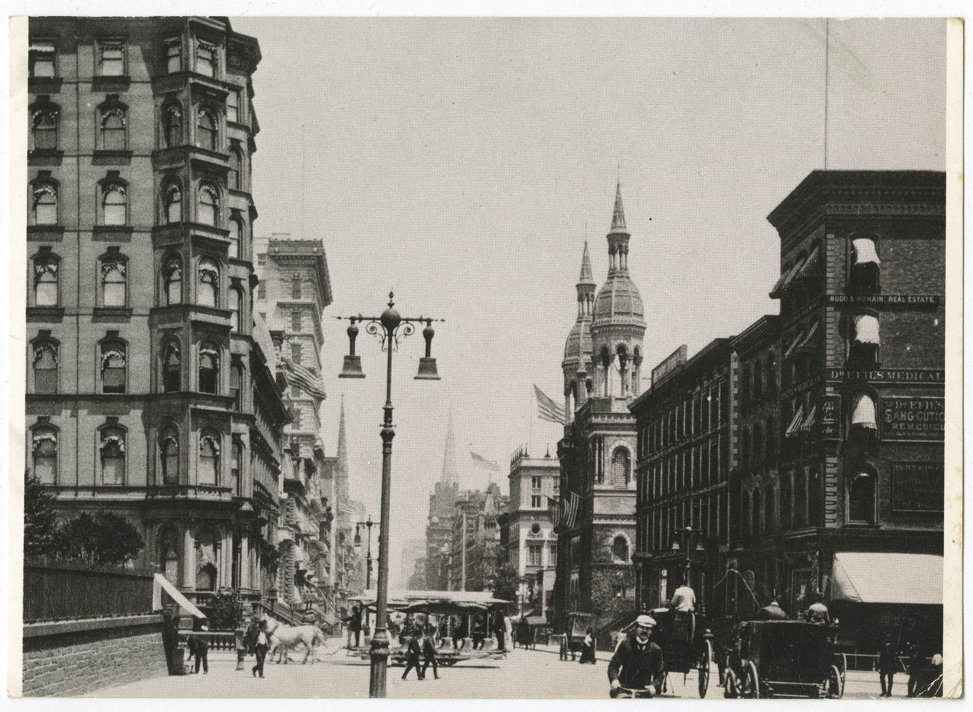 New York, c. 1893. Fifth Avenue, 42nd Street