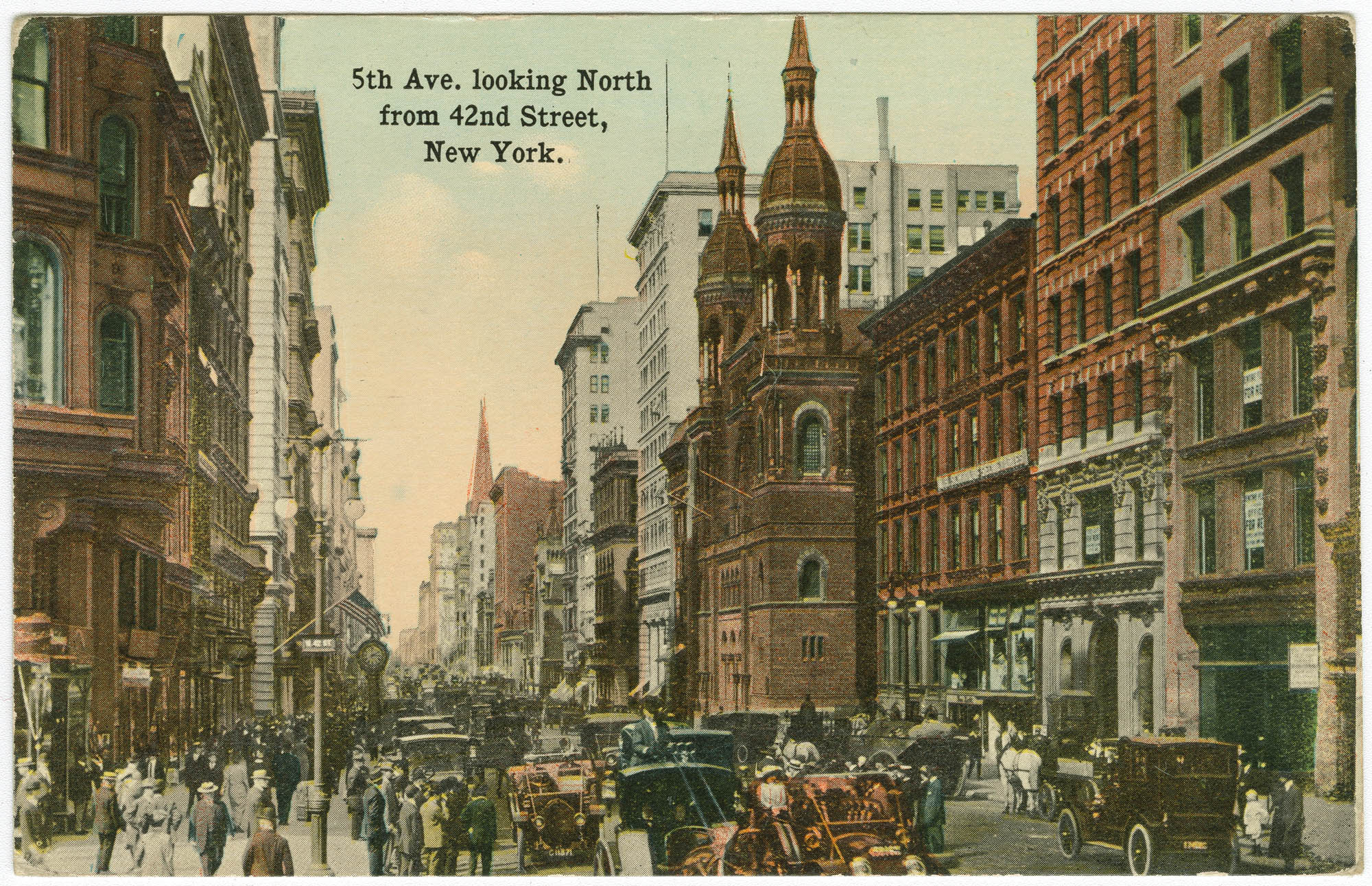 5th Ave. looking North from 42nd Street, New York