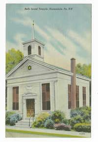 Beth Israel Temple, Honesdale, Pa.