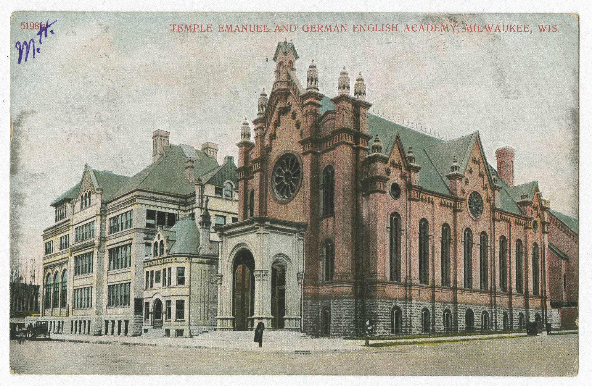 Temple Emanuel and German English Academy, Milwaukee, Wis.