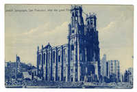 Jewish Synagogue, San Francisco, after the great fire