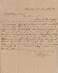 191. J. Robert Coburn to James B. Heyward -- January 28, 1863