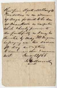 300. Note of an advance on pay to a freedman carpenter -- June 12, 1866