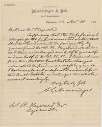 334. C.G. Memminger to James B. Heyward -- November 30, 1880