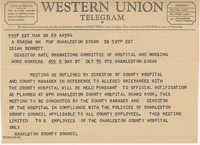 Telegram to Isaiah Bennett from Charleston County Council