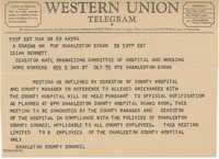 Telegram to Isaiah Bennett from Charleston County Council