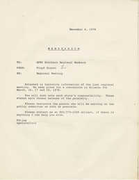 Memorandum from Floyd Gipson reporting on activities from the Regional Meeting of A. Philip Randolph Institute