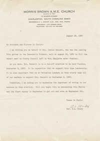 Letter from Reverend Z. L. Grady regarding Isaiah Bennett's run-off election in 1980
