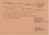 Telegram requesting a meeting with the County Council