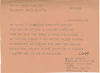 Telegram to Senator Ernest Hollings