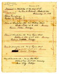 Gustave Pollitzer and Clara Guinzburg marriage certificates and children's births
