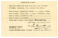 Carrie Pollitzer birth certificate