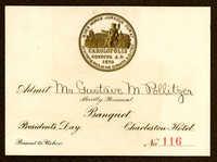 Gustave M. Pollitzer World's Fair banquet ticket for President's Day