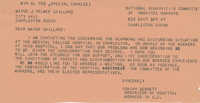 Telegram to J. Palmer Gaillard from Isaiah Bennett