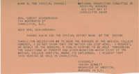 Telegram to Senator Robert Scarborough from Isaiah Bennett