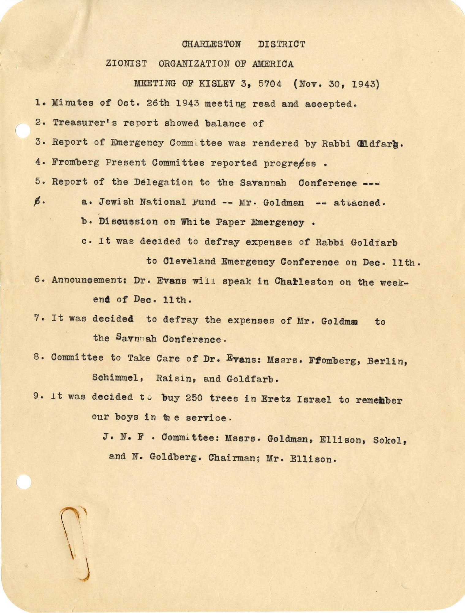 16. November 30, 1943 Minutes