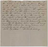 219. Note seeking Bond of Indemnity for James B. Heyward -- October 19, 1864
