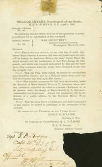 General Orders No. 50 (Raising the flag on Fort Sumter)