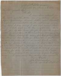 183. John W. Chambers to James B. Heyward -- November 1, 1862