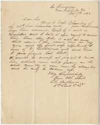 180. E.C. DuBose to James B. Heyward -- October 7, 1862