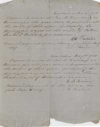 157. Contract with W.L. Hadine (?), C.R. Hains and James B. Heyward -- 1858-1859