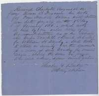 252. Receipt of note from Thomas B. Ferguson to Theodore Barker -- August 16, 1865